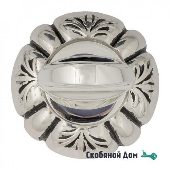 Фиксатор поворотный Venezia WC-2 D5 натуральное серебро + черный