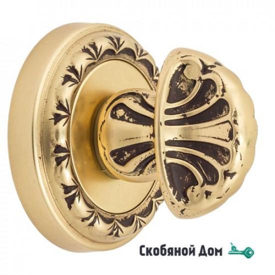 Фиксатор поворотный Venezia WC-4 D2 французское золото + коричневый