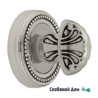 Фиксатор поворотный Venezia WC-4 D3 натуральное серебро + черный