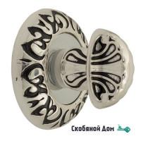 Фиксатор поворотный Venezia WC-4 D4 натуральное серебро + черный