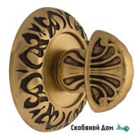 Фиксатор поворотный Venezia WC-4 D4 французское золото + коричневый