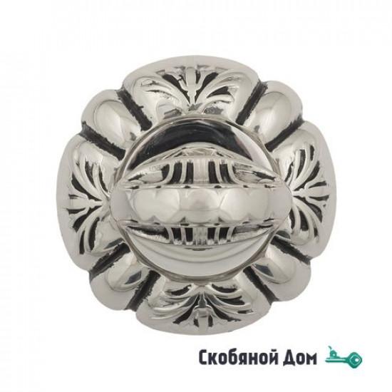 Фиксатор поворотный Venezia WC-4 D5 натуральное серебро + черный