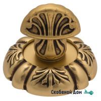 Фиксатор поворотный Venezia WC-4 D5 французское золото + коричневый