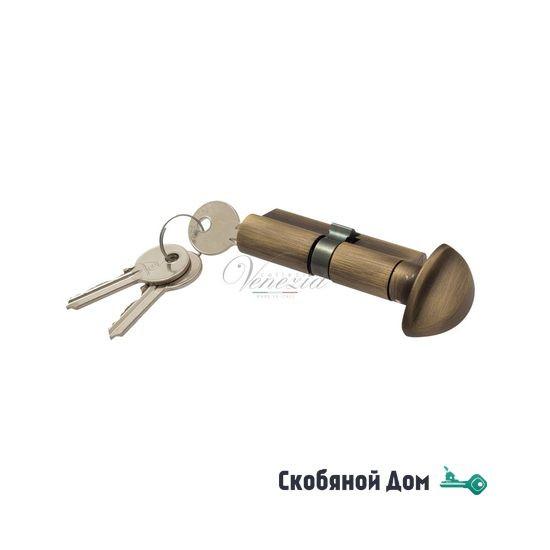 Цилиндровый механизм вертушка-ключ Venezia 25/10/35 матовая бронза