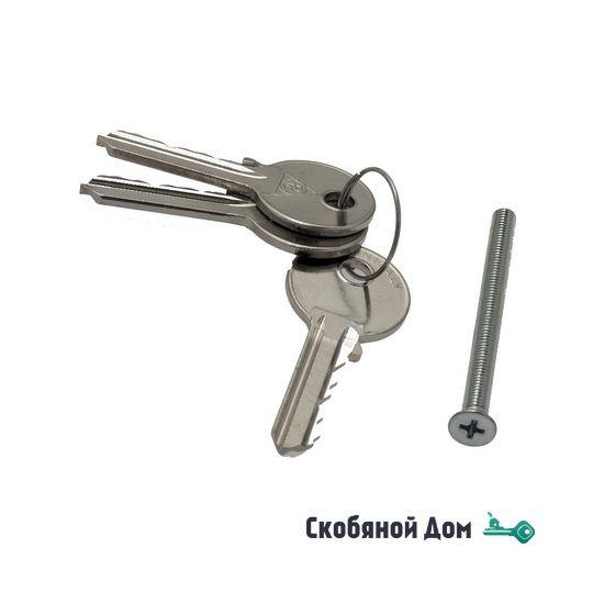 Цилиндровый механизм ключ-вертушка Venezia 25/10/35 матовая бронза