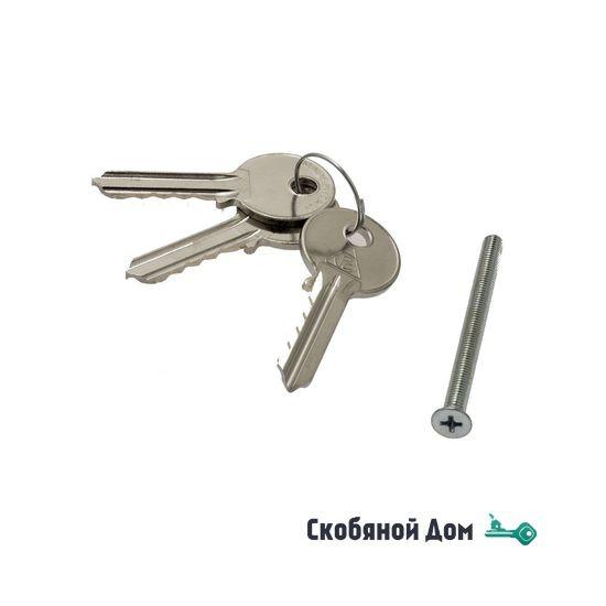 Цилиндровый механизм ключ-ключ Venezia 25/10/25 матовый хром