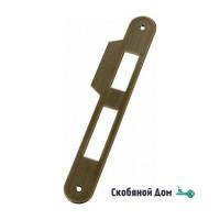 B01000.05.12 Ответная планка длинная с язычком прямым (античная бронза)