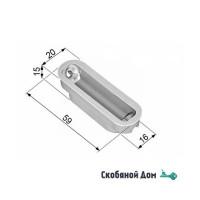 B02402.05.06 Ответная магнитная планка пластиковая MINIMAL для MEDIANA POLARIS (хром)