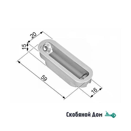B02402.05.23 Ответная магнитная планка пластиковая MINIMAL для MEDIANA POLARIS (матовое золото)