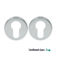 Накладка под цилиндр на круглом основании COLOMBO CD43 GB матовый хром
