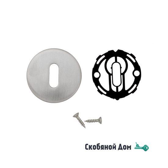 Накладка под ключ буратино на круглом основании COLOMBO CD43BB матовый хром