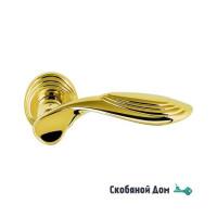 Дверная ручка на круглом основании COLOMBO Cameo DB 41 RSB полированная латунь