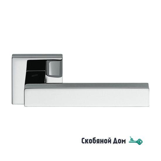 Дверная ручка на квадратном основании COLOMBO Elesse BD 21 RSB полированный хром