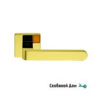 Дверная ручка на квадратном основании COLOMBO Fedra AC 11 RSB полированная латунь