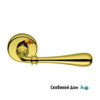 Дверная ручка на круглом основании COLOMBO Ida ID 31 RSB полированная латунь