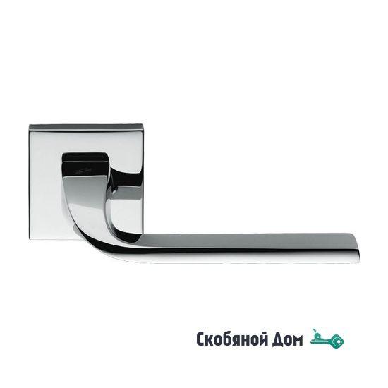 Дверная ручка на квадратном основании COLOMBO Isy BL11 RSB полированный хром
