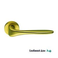 Дверная ручка на круглом основании COLOMBO Madi AM31 RSB матовое золото
