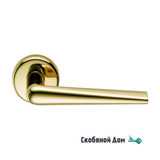 Дверная ручка на круглом основании COLOMBO Robotre CD91 RSB полированная латунь