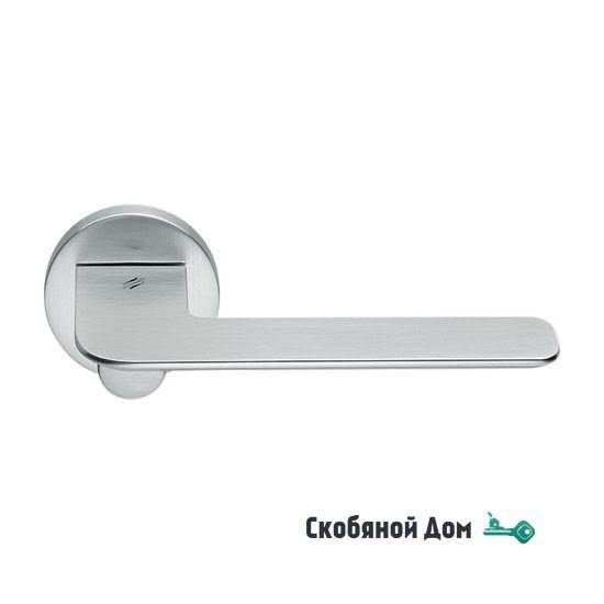 Дверная ручка на круглом основании COLOMBO Slim FF 11 RSB матовый хром