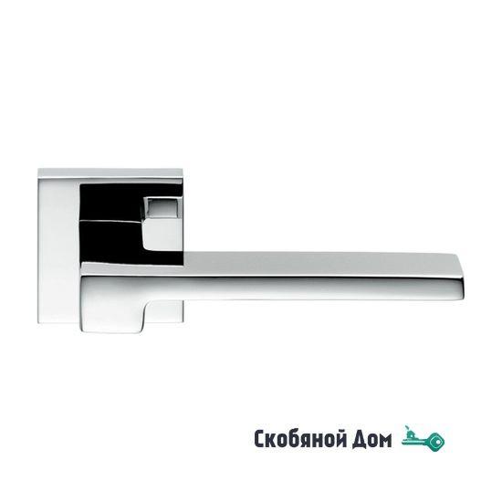 Дверная ручка на квадратном основании COLOMBO Zelda MM11 RSB полированный хром