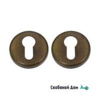 Накладка под цилиндр на круглом основании COLOMBO CD1003Y матовая бронза