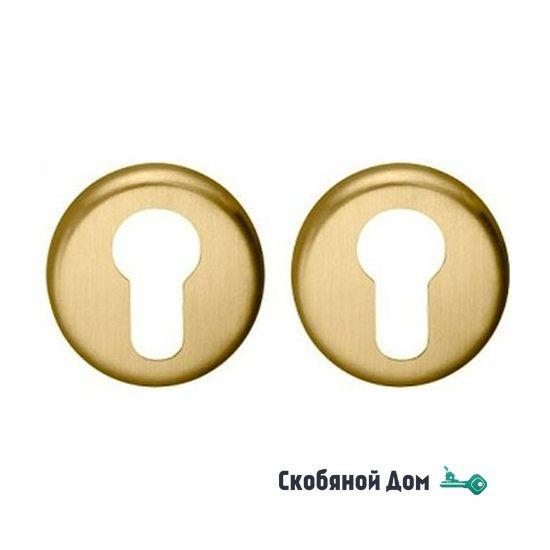 Накладка под цилиндр на круглом основании COLOMBO CD43 GB матовое золото