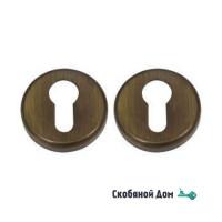 Накладка под цилиндр на круглом основании COLOMBO CD63 GB матовая бронза
