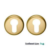 Накладка под цилиндр на круглом основании COLOMBO CD63 GB матовое золото