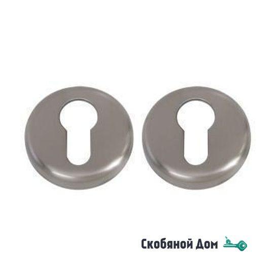 Накладка под цилиндр на круглом основании COLOMBO CD63 GB матовый никель