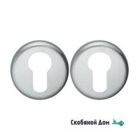 Накладка под цилиндр на круглом основании COLOMBO CD63 GB матовый хром