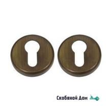 Накладка под цилиндр на круглом основании COLOMBO DB 13 Y матовая бронза