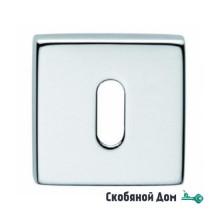 Накладка под ключ буратино на квадратном основании COLOMBO FF23 полированный хром