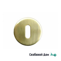 Накладка под ключ буратино на круглом основании COLOMBO CD1063 матовое золото