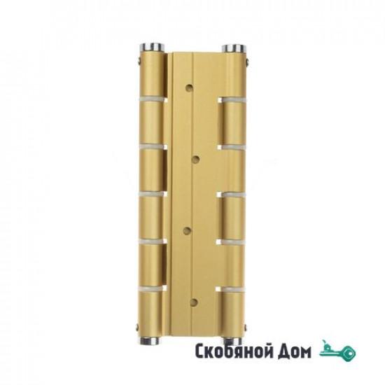 Петля пружинная Justor 5814.02 180 мм матовое золото (60 кг)