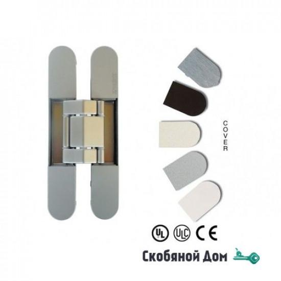 KUBICA 7120 DXSX, EA универсальная петля, цвет СТАЛЬНОЙ ЭФФЕКТ (140 kg)