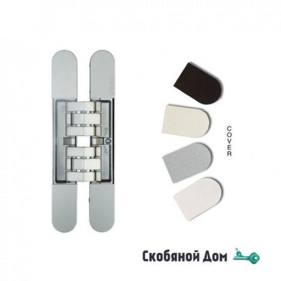 KUBICA 7200 DXSX, NS универсальная петля, цвет МАТОВЫЙ НИКЕЛЬ (200 kg)