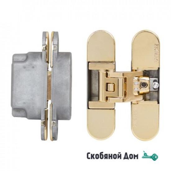 KUBICA 6700 DXSX, GOLD петля скрытая универсальная ЗОЛОТО (70 kg)