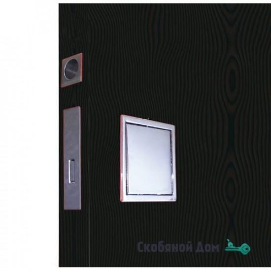 Ручка KUADRA QB 200 CS c замком для распашной двери, цвет Матовый хром