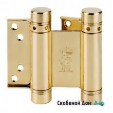 101AO075 Дверная петля пружинная ALDEGHI 75x28x34 мм полированная латунь