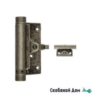 115FA001 Доводчик дверной стальной пружинный до 25кг ALDEGHI (77x235мм) античное серебро