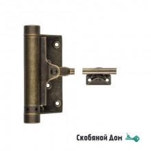 115OA004 Доводчик дверной стальной пружинный до 80кг ALDEGHI (148x345мм) античная бронза