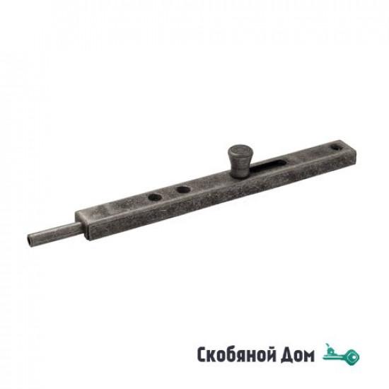 231FA20 Задвижка дверная усиленная ALDEGHI 200мм античное серебро