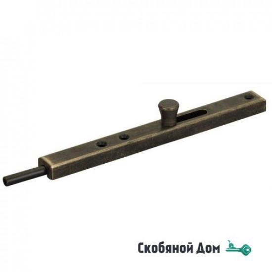 231OA30 Задвижка дверная усиленная ALDEGHI 300мм античная бронза
