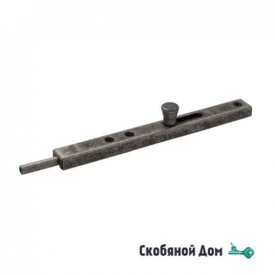 231FA30 Задвижка дверная усиленная ALDEGHI 300мм античное серебро