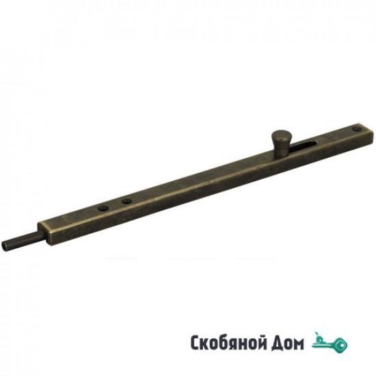 231OA50 Задвижка дверная усиленная ALDEGHI 500мм античная бронза