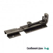 256FA20 Задвижка дверная усиленная с отверствием для навесного замка ALDEGHI 200мм античное серебро