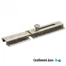 261FA15 Задвижка дверная усиленная, плоский ригель ALDEGHI 150мм античное серебро