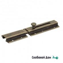261OA20 Задвижка дверная усиленная, плоский ригель ALDEGHI 200мм античная бронза