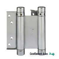 101AN150B2 Дверная петля пружинная амортизирующая ALDEGHI 148x42x50 никель