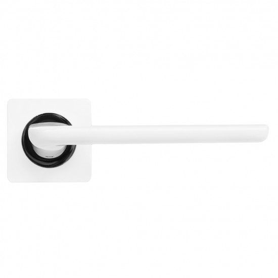 "Дверная ручка CdeB ""Эстер"" белый мат./хром блест."